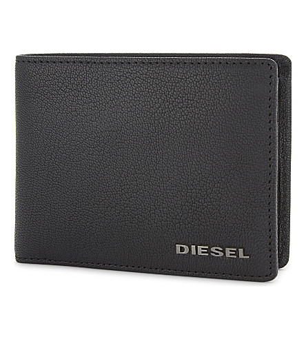 DIESEL Neela XS grained leather billfold wallet (Black
