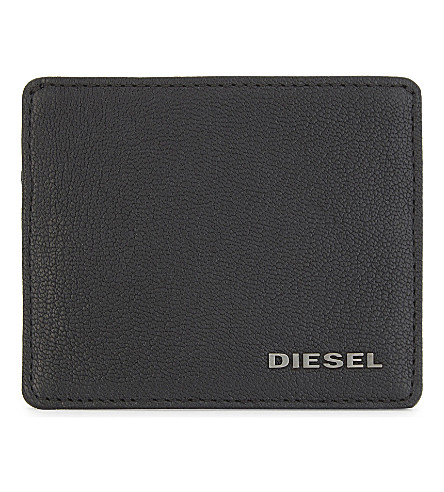 DIESEL Johnas leather card holder (Black