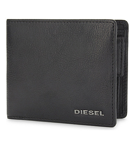 DIESEL Hiresh S grained leather wallet (Black