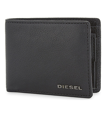 DIESEL Grained leather billfold wallet (Black