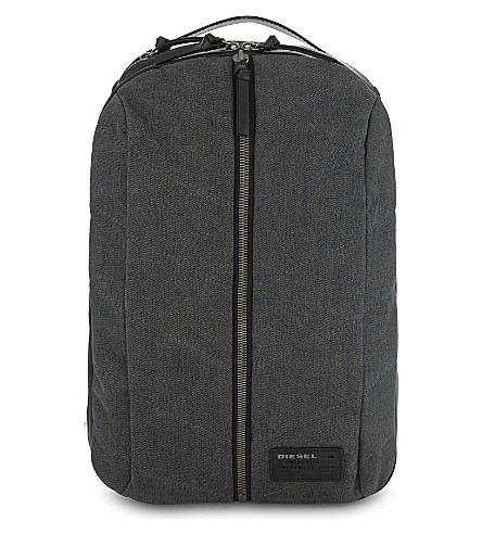 DIESEL V-Denim Group backpack (Dark+blue/black