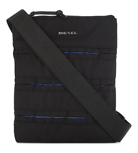 DIESEL M-24/7 nylon messenger bag (Black/blue
