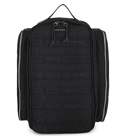 DIESEL M-24/7 Super nylon backpack (Black/blue