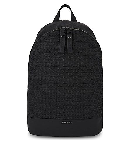 DIESEL Denim backpack (Grey+denim/black