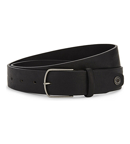 DIESEL B-shense leather belt (Black