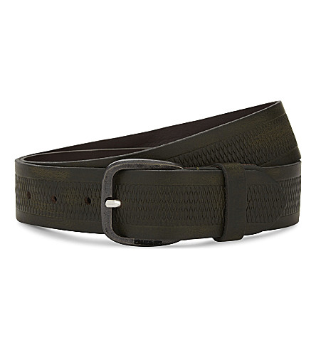 DIESEL B-wild leather belt (Beech