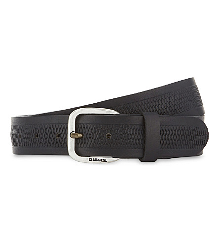 DIESEL B-Wildd leather belt (Black
