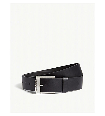 DIESEL B-deal leather belt (Black