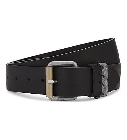 DIESEL Blongh leather belt (Black