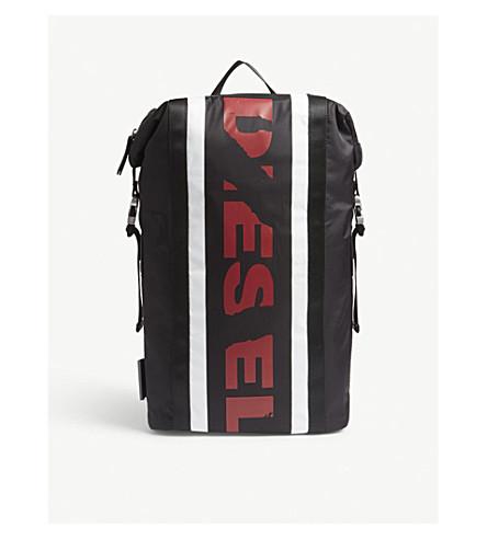 DIESEL F-Sporty nylon backpack (Blcktngordwhte