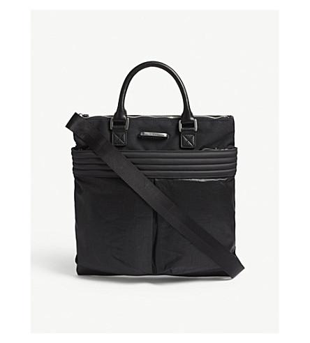 DIESEL M-Proof canvas tote bag (Black/black+denim