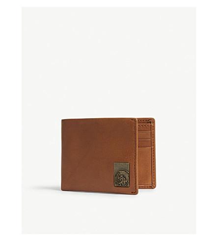 DIESEL Neela xs leather billfold wallet (Tortoise+shell