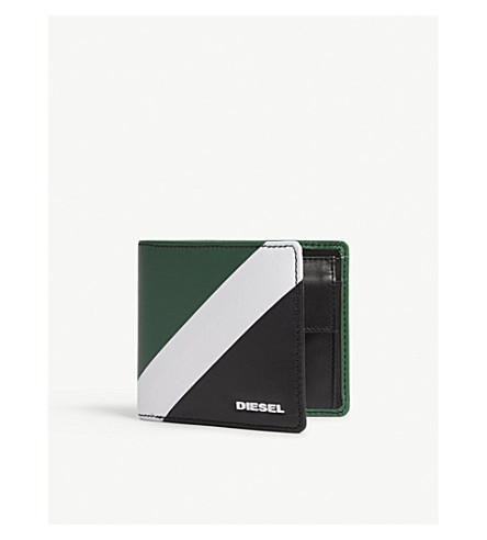DIESEL Hiresh S leather wallet (Jelly+bean/black
