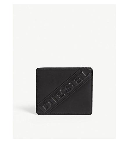 DIESEL Johnas I leather card holder (Black