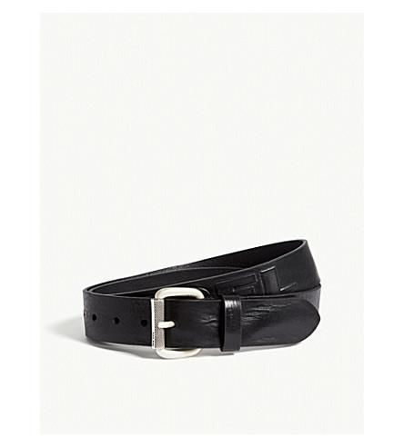 DIESEL B-dieselxx leather belt (Black
