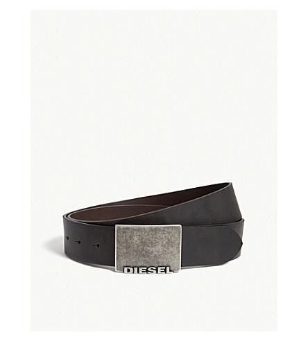 DIESEL B-blade leather belt (Turkish+coffee