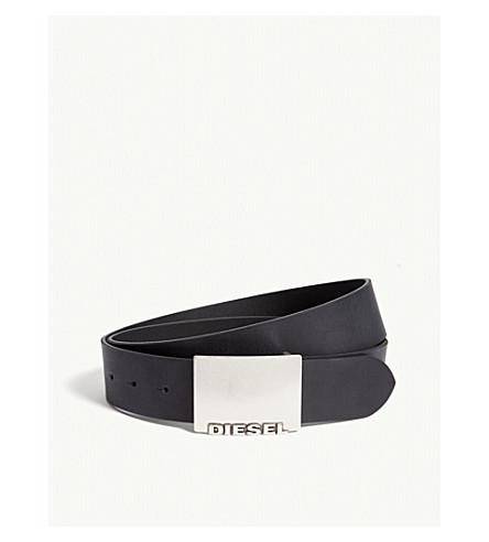 DIESEL B-blade leather belt (Black