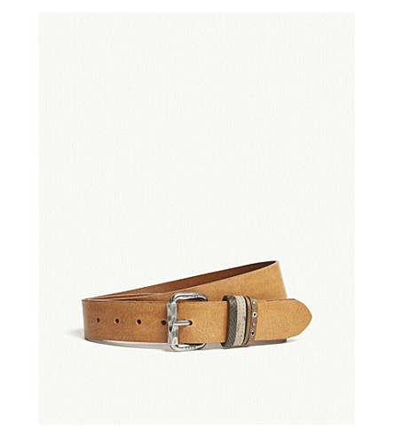 DIESEL B-Mused leather belt (Brown+sugar