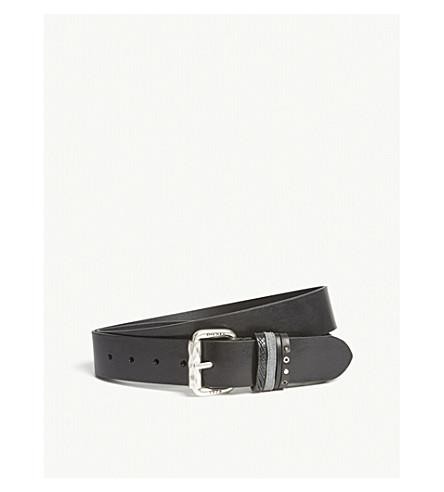 DIESEL B-Mused leather belt (Black