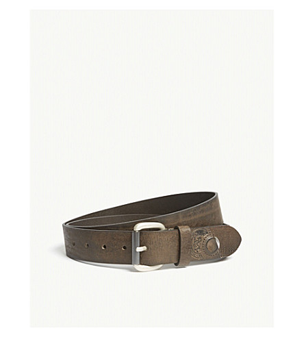 DIESEL B-Stretch leather belt (Bungee+cord