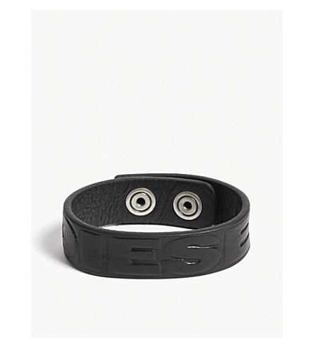 DIESEL Adieselxx leather bracelet (Black