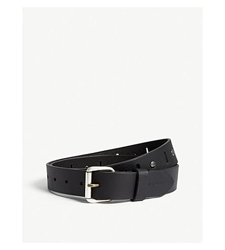 DIESEL B-Match leather belt (Black