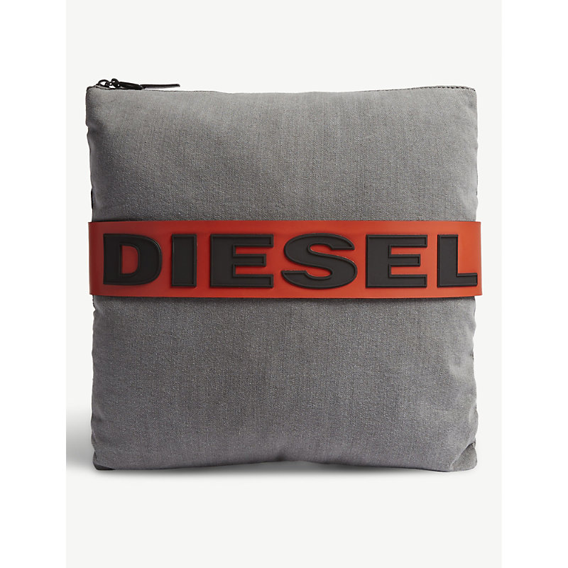 DIESEL D-Master denim clutch