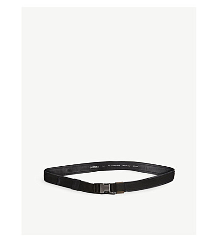DIESEL B-Choice woven and leather belt