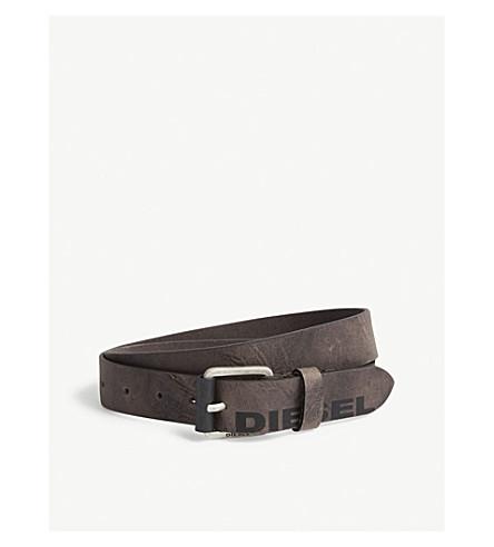 DIESEL B-Log buffalo leather belt (Canteen