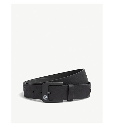 DIESEL B-Prof.Lee leather belt (Black