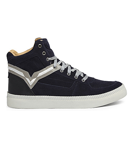 DIESEL S-Spaark 中高帮运动鞋 (蓝/黑/鸽