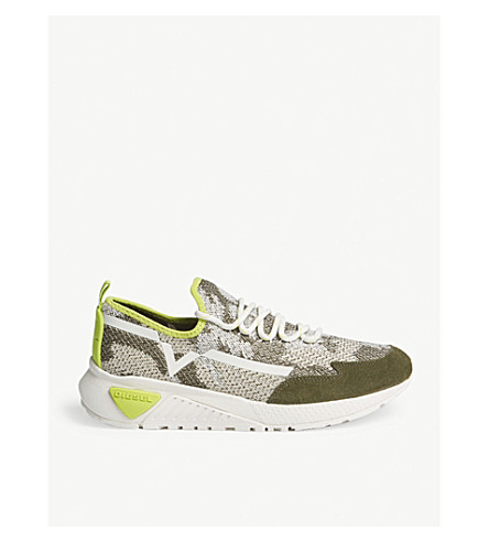 DIESEL S-kby woven trainers (Multicolor+leaf