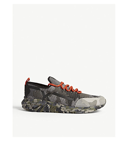 DIESEL S-KBY camoknit trainers (Multicolor+army