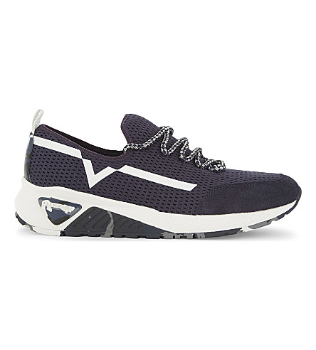 DIESEL S-kby trainers (Blue+iris/white