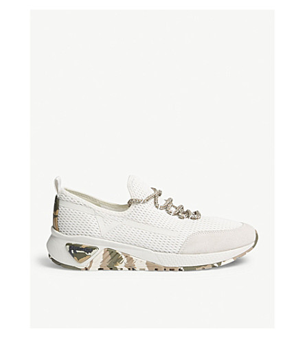 DIESEL S-kby camouflage sole mesh trainers (Dirty+white