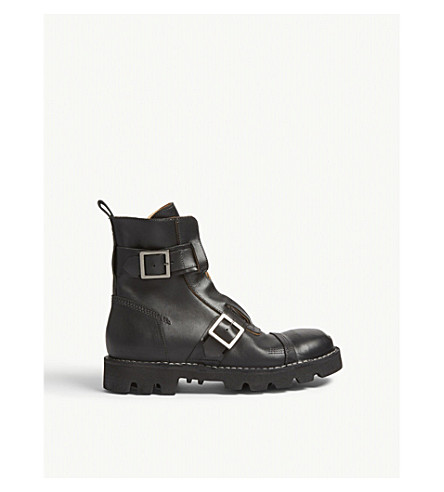 DIESEL Hardkor steel toe leather boots (Black