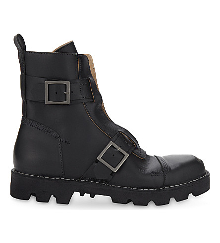 DIESEL Dopper leather pit boots (Toffee