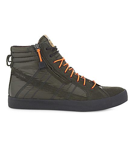 DIESEL D-String Plus quilted trainers (Climbing+ivy