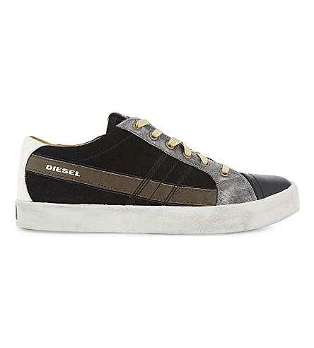 DIESEL D-String Low trainers (Black/olive+night
