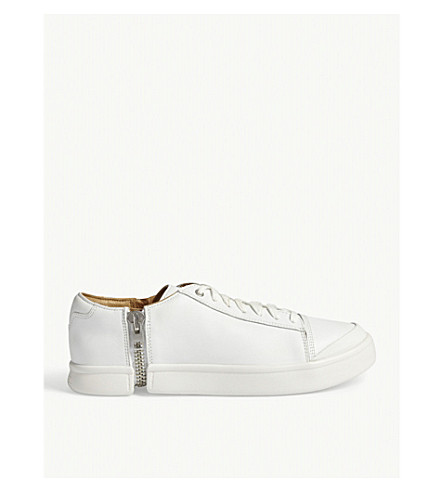 DIESEL S-Nentish leather low-top trainers (White