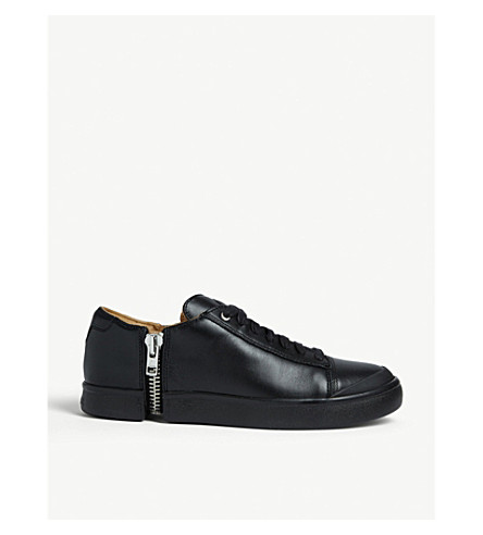 DIESEL S-Nentish leather low-top trainers (Black