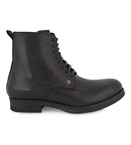 DIESEL D-Vicicous leather boots (Black
