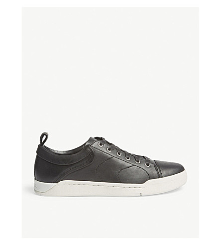 DIESEL S-marquise leather low-top trainers (Black