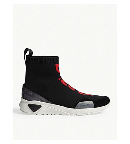 DIESEL S-KB Mid Sock trainers (Black/castlerock