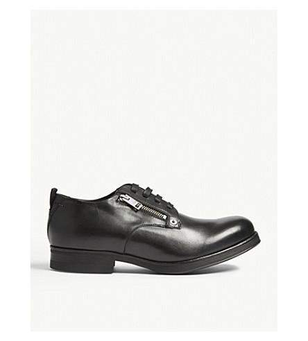 DIESEL D-Vicious leather lace up shoes (Black