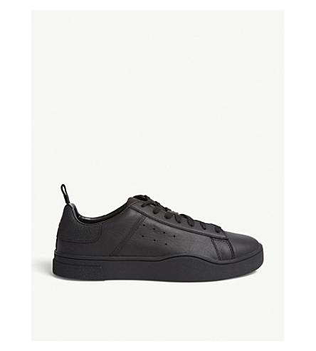 DIESEL Diesel S-clever leather low-top sneakers (Black/black