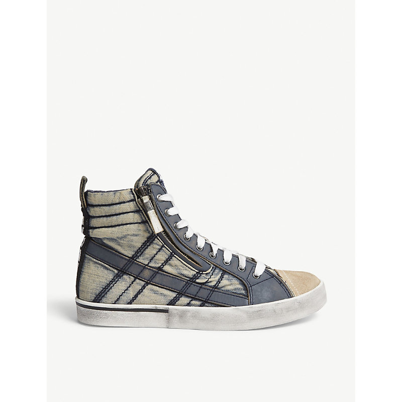 DIESEL D-VELOWS HIGH-TOP TRAINERS