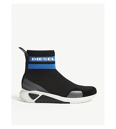 DIESEL S-KB Sock W trainers (Black/methyl+blue