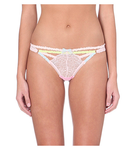 MYLA Candy lace thong (Cupid pink
