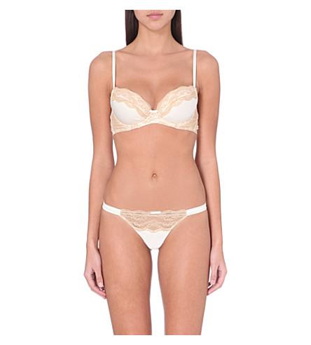 MYLA Isabella padded plunge bra (Ivory nude